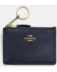 COACH - Mini Skinny Id Case In Crossgrain Leather - Lyst