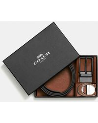 COACH - Boxed Signature Harness Reversible Belt - Lyst