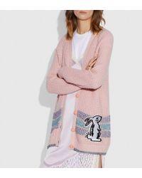 COACH Selena Cardigan - Pink