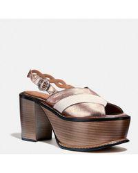 COACH Platform Sandal - Pink
