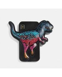 COACH Iphone Xr Case With Rexy - Black