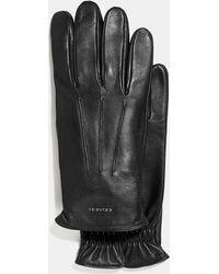 COACH Tech Napa Gloves - Black