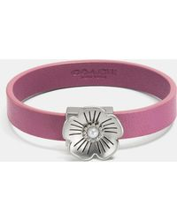 COACH - Willow Floral Leather Bracelet - Lyst