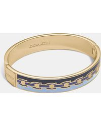 COACH - Signature Chain Hinged Bangle - Lyst