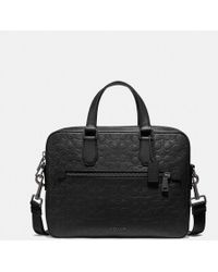 COACH Porte-documents Kennedy en cuir exclusif - Noir