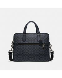 COACH Porte-documents Kennedy en toile exclusive - Noir