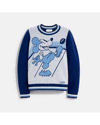 COACH Disney X Mickey Mouse Jacquard Sweater - Blue