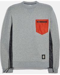 COACH Nylon Sweatshirt - Gray