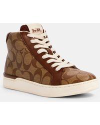 COACH Clip High Top Sneaker - Brown