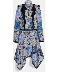 COACH Pleated Dress With Kaffe Fassett Print - Blue