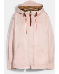 COACH Solid Short Jacket With Signature - Pink