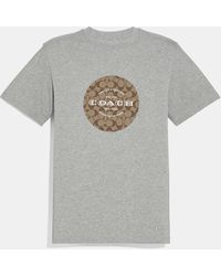 COACH Signature T-shirt - Gray