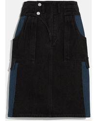 COACH Denim Skirt - Black