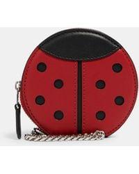 COACH Ladybug Pouch Bag Charm - Red