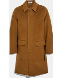 COACH Double Faced Coat - Natural