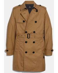 COACH Trench Coat - Natural