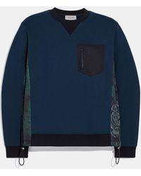 COACH Nylon Sweatshirt With Kaffe Fassett Print - Blue