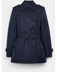 COACH Short Trench - Blue