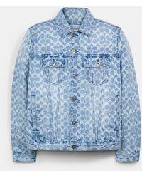 COACH Signature Denim Jacket - Blue
