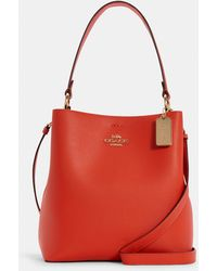 COACH Town Bucket Bag - Red
