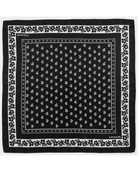 COACH Lily Of The Valley Silk Bandana - Black