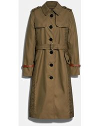 COACH Signature Panel Trench - Green