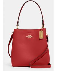 COACH Small Town Bucket Bag - Red