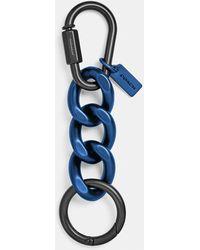 COACH Chain Link Key Ring - Blue