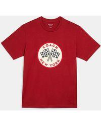COACH Racing Flags T-shirt - Red