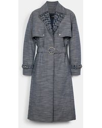 COACH Signature Chambray Trench - Blue