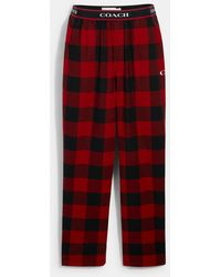 COACH Flannel Pajama Pants - Red