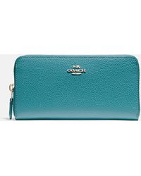 COACH Accordion Zip Wallet - Blue