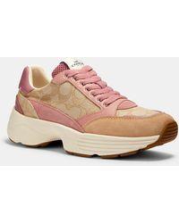 COACH C152 Tech Runner Sneaker - Pink
