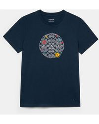 COACH Chambray Floral Signature T-shirt - Blue