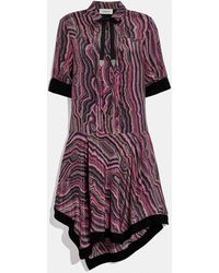 COACH Shirt Dress With Kaffe Fassett Print - Pink