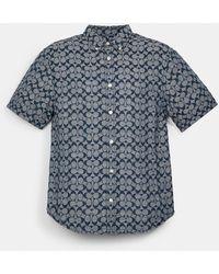 COACH Signature Chambray Shirt - Blue