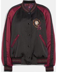 COACH Reversible Varsity Jacket - Black