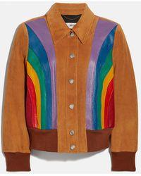 COACH Rainbow Blouson Jacket - Multicolor