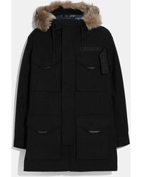 COACH 3-in-1 Parka With Shearling - Black