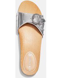 COACH Bleeker Sandal - Metallic