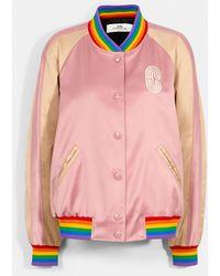 COACH Rainbow Souvenir Jacket - Pink