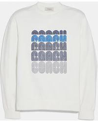 COACH Embroidered Sweatshirt - White