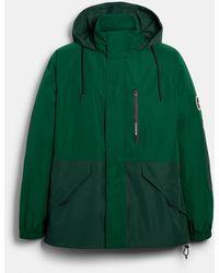 COACH Rain Reactive Windbreaker - Green