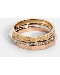 COACH Tri Color Ring Set - Metallic