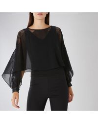 Coast - Justine Lace Overlayer Top - Lyst