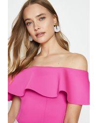 Coast Bardot Scuba Top - Pink