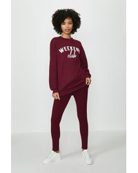 Coast Weekend Club Jumper And Legging Set - Red