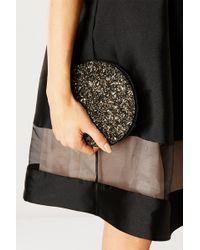 Coast Basel Glitter Fold Away Tote Bag - Black
