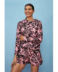 Coast Printed Loopback Shorts - Multicolour