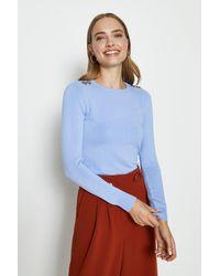 Coast Trim Detail Knitted Jumper - Blue
